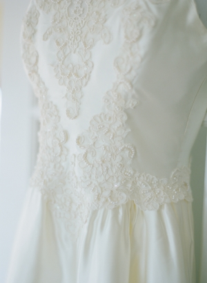 Vintage Lace Wedding Gown Detail