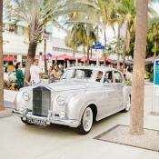 Vintage Silver Getaway Car