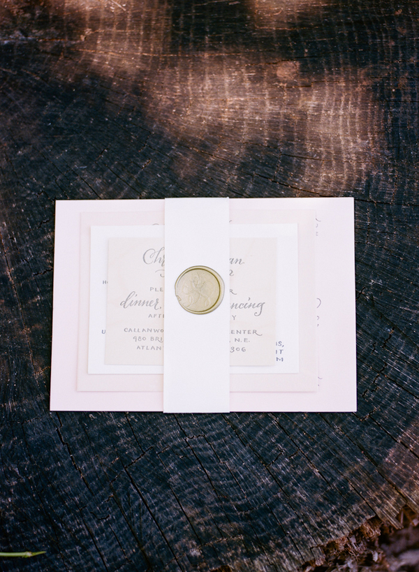 Wax Seal Wedding Invitation