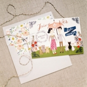 Watercolor Illustrated Wedding Stationery