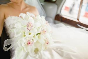 White Orchid Bridal Bouquet 1