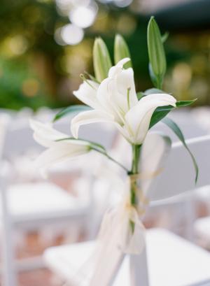 White Lily Ceremony Aisle Decor