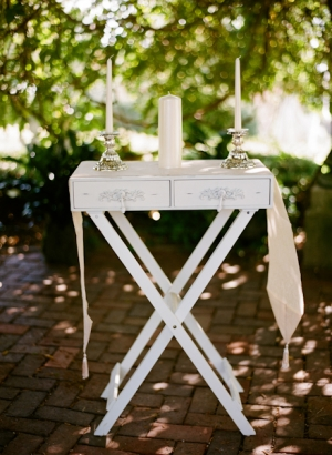 White Unity Candle Table