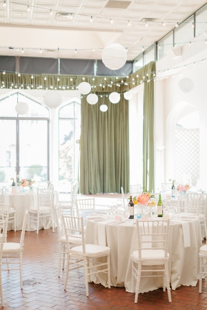 White and Peach Wedding Reception