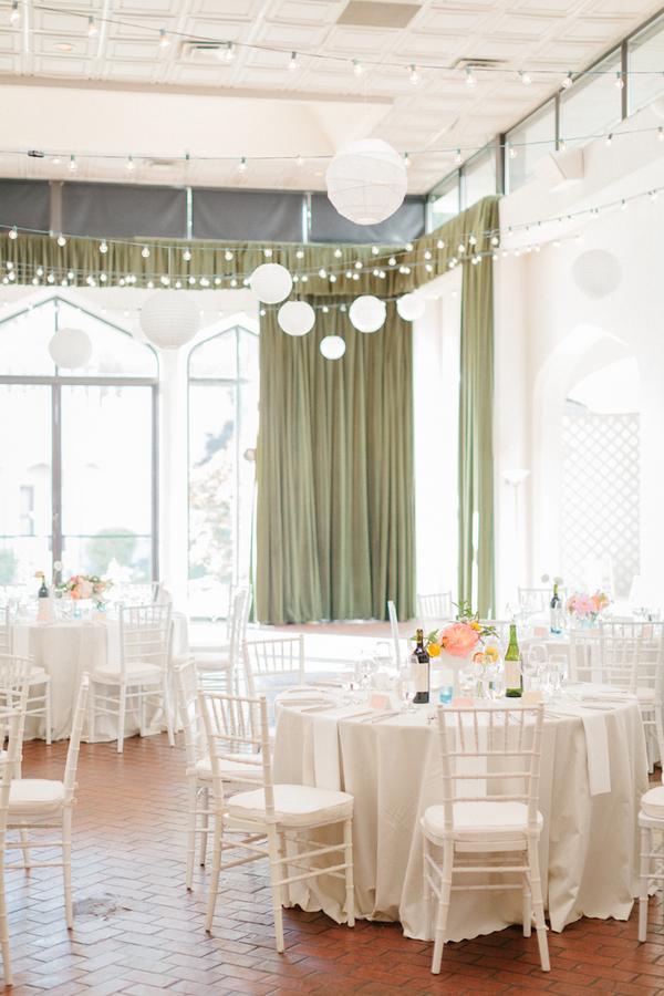 White And Peach Wedding Reception Elizabeth Anne Designs