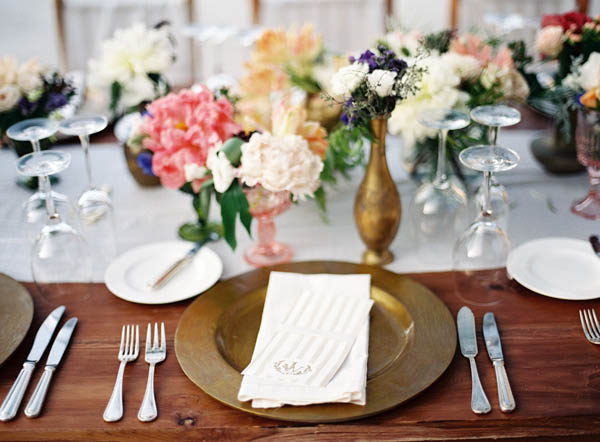 Colorful Pink and Gold Tabletop