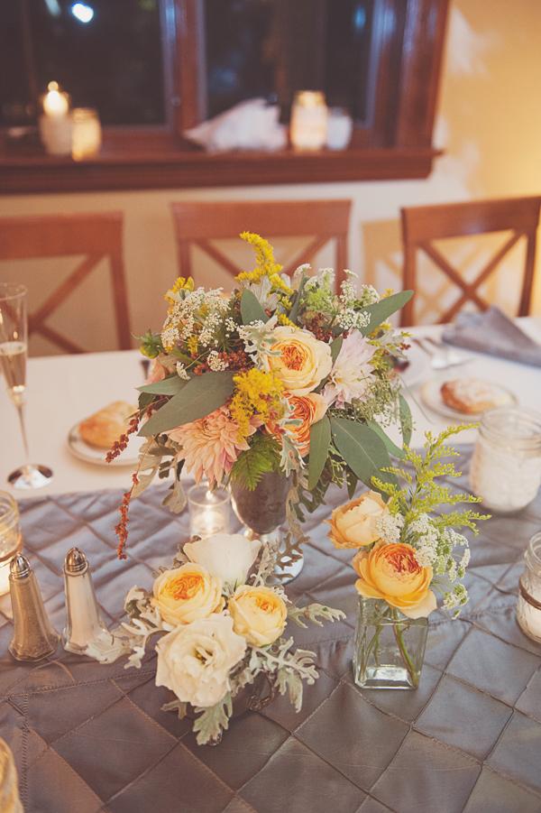 Yellow And Peach Centerpieces Elizabeth Anne Designs The Wedding Blog