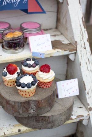 Americana Inspired Cupcakes
