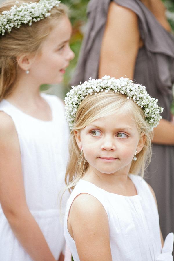 Babys Breath Flower Girl Hair Wreath Elizabeth Anne