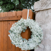 Babys Breath Wreath Outdoor Reception Decor