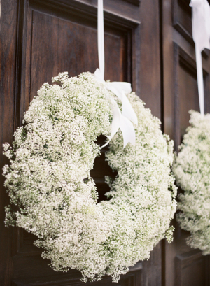 Baby's Breath Wreath on Church