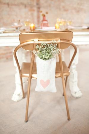 Baby's Breath in Muslin Bag Chair Decor