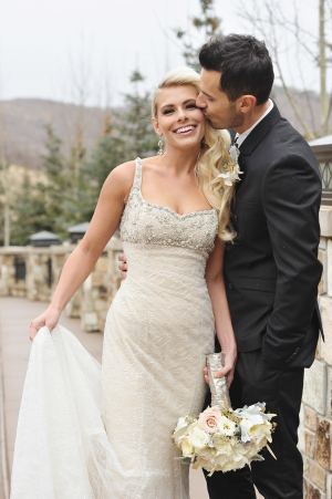 Beaded Bodice Fitted Wedding Gown