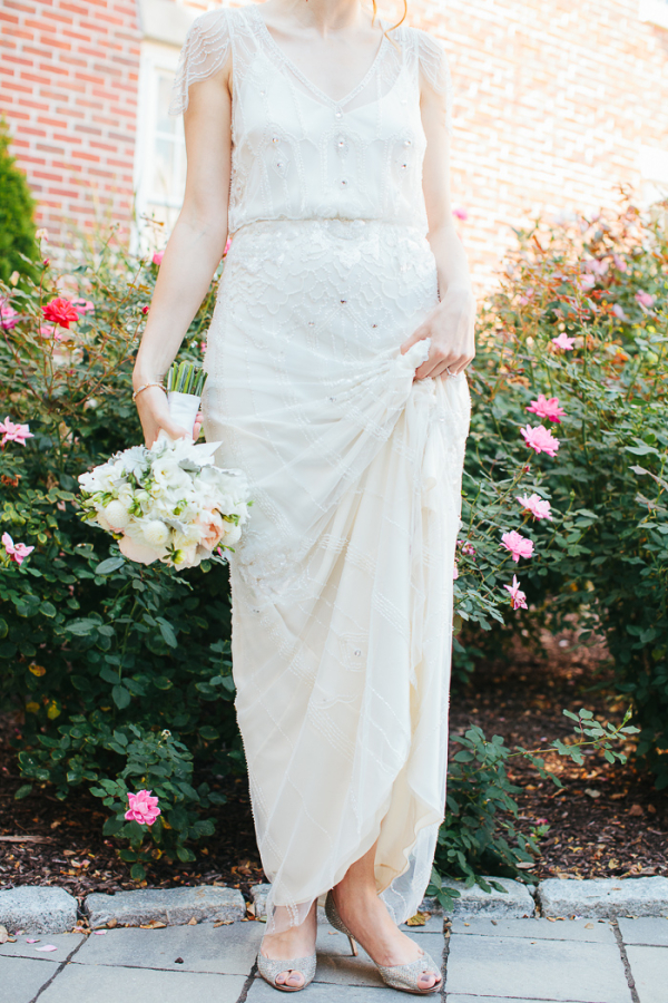 Beaded Vintage Style Wedding Gown