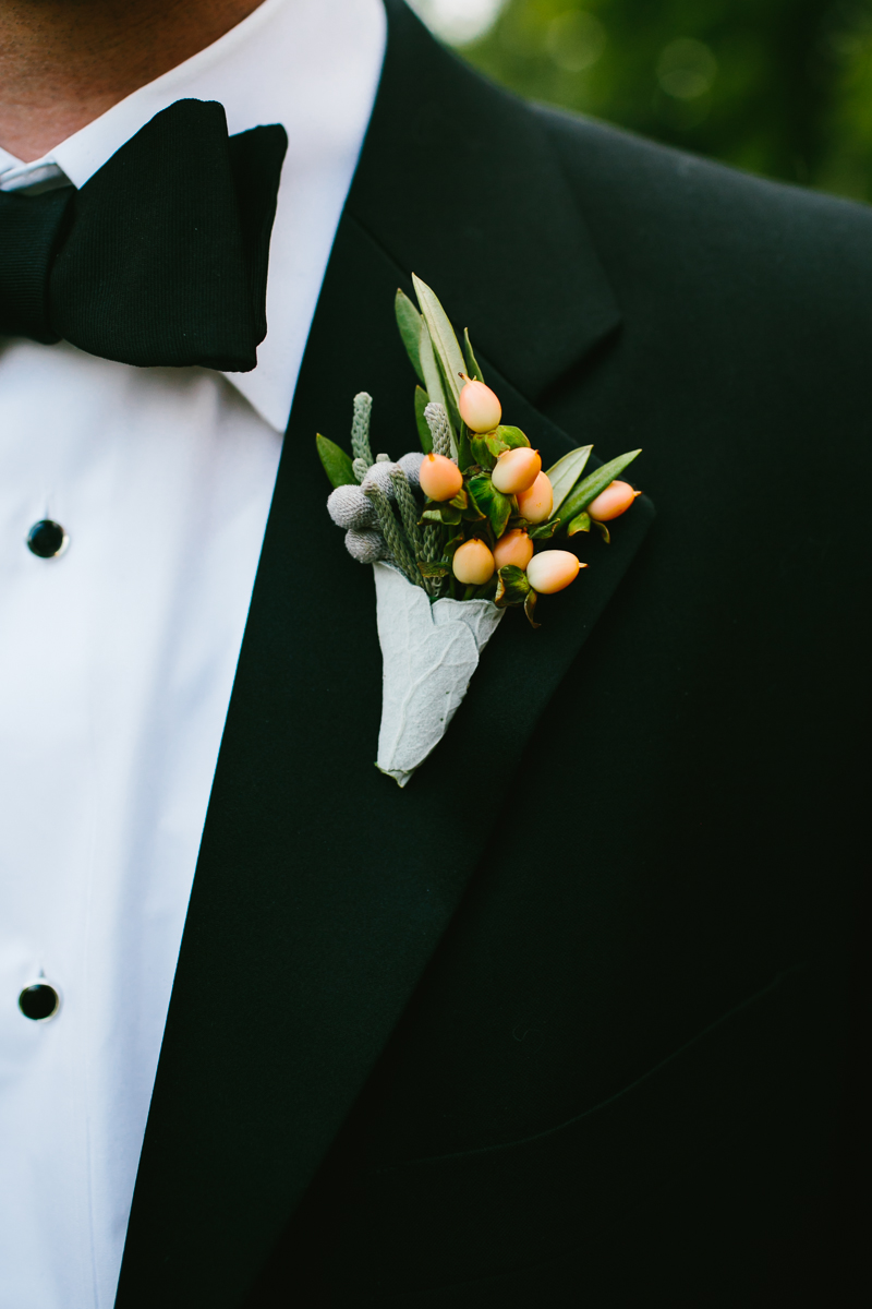 Berry And Greenery Boutonniere