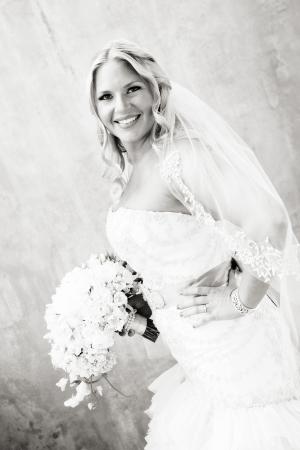 Black and White Bridal Portrait Adeline Grace Photography