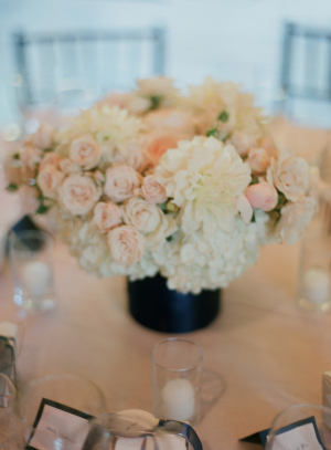Blush and Cream Floral Reception Arrangement