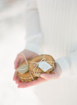 Branch Coasters Wedding Favors