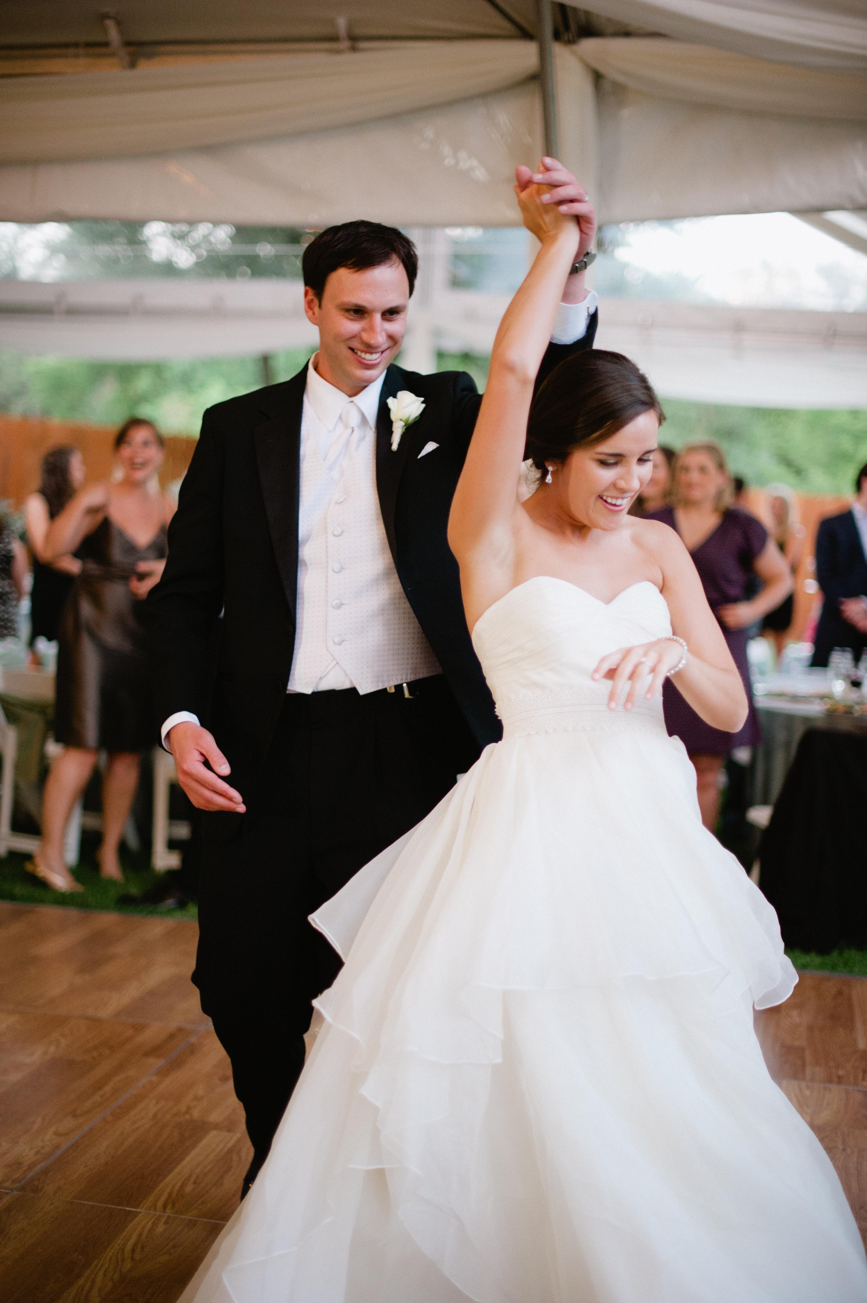 Bride And Groom Outdoor Reception First Dance Ideas Elizabeth Anne Designs The Wedding Blog