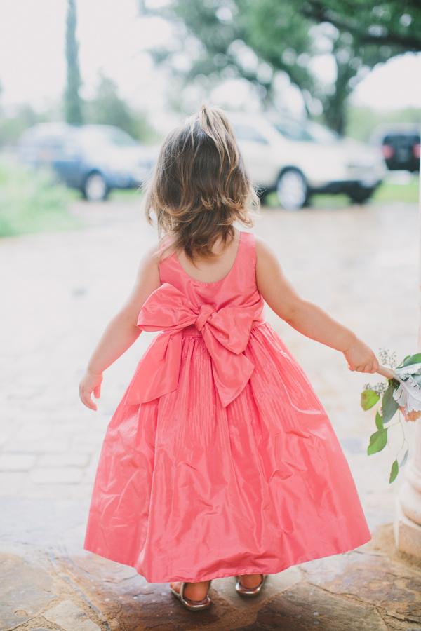 Bright pink silk flower girl dress elizabeth anne designs the bright pink silk flower girl dress mightylinksfo