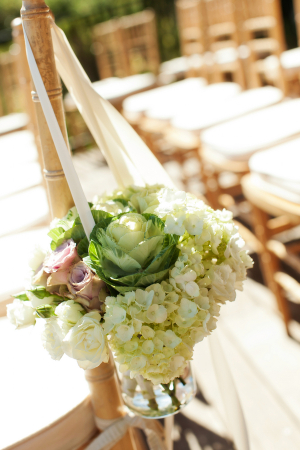 Cabbage Roes and Hydrangea Chair Decor