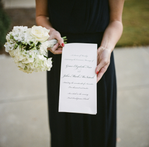 Calligraphy Black and White Invitation