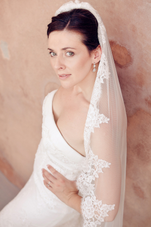 Cathedral Length Lace Trimmed Veil