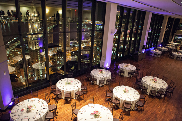 City Reception Venue With Floor to Ceiling Windows