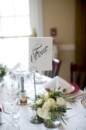 Classic Calligraphy Reception Table Numbers
