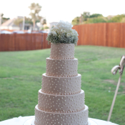 Classic Round Wedding Cake With Dots