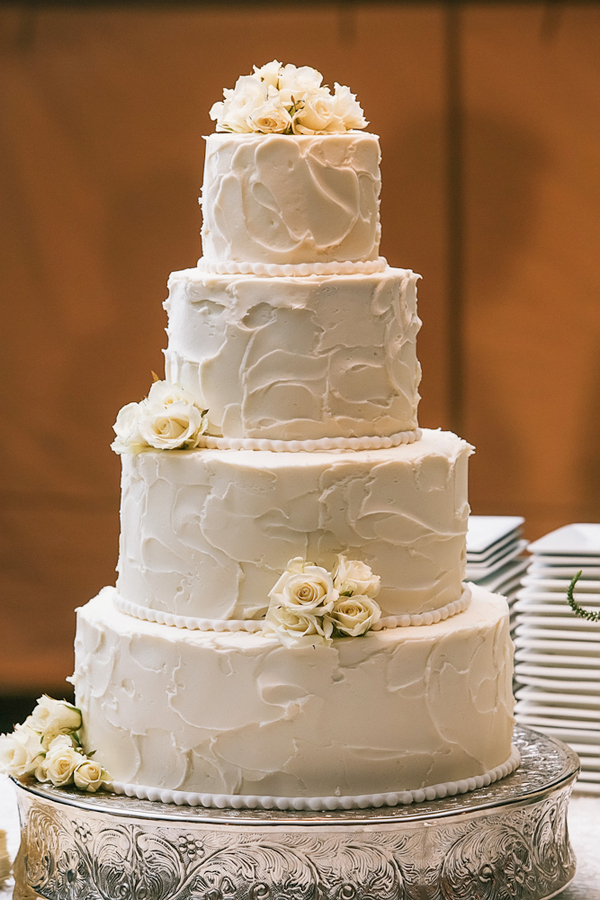 Classic Round Wedding Cake With Textured Frosting