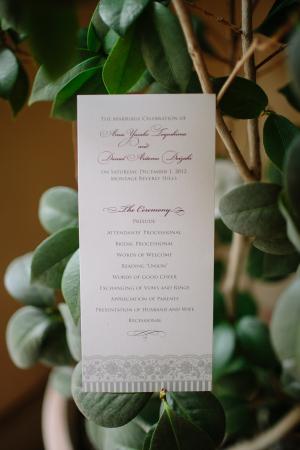 Classic Wedding Ceremony Program