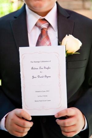 Classic Wedding Program