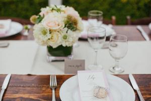 Classic Wood Wedding Table