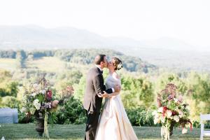 Couple Portrait Outdoor Vermont Wedding
