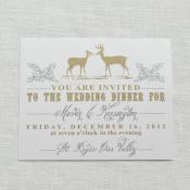 Cream Gold and Silver Wedding Invitation