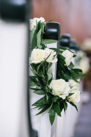 Cream Rose Garland Aisle Decor