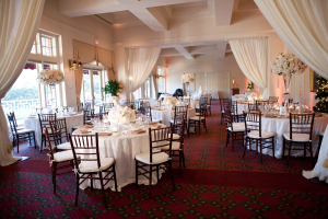 Cream and Blush Ballroom Reception Decor