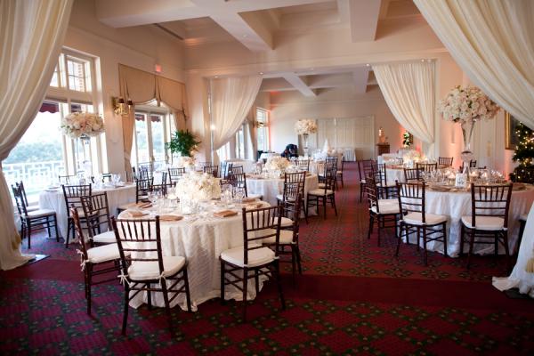 Cream and Blush Ballroom Reception Decor
