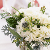 Cream and Green Flowers Reception Ideas