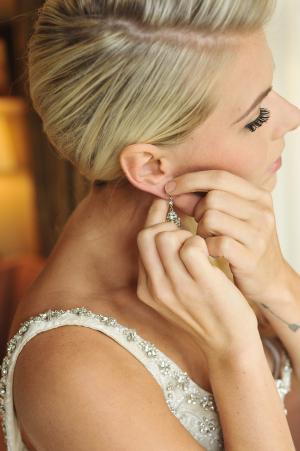 Crystal Drop Bridal Earrings