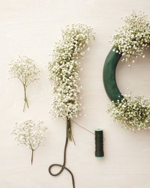 DIY Baby's Breath Wedding Garland
