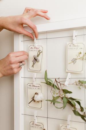 Dried Flower Escort Cards