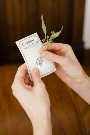 DIY Botanical Escort Cards