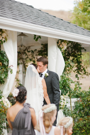 Draped Floral Wedding Arch