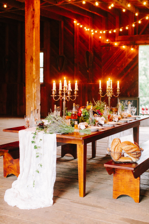 Elegant Barn Wedding Tabletop