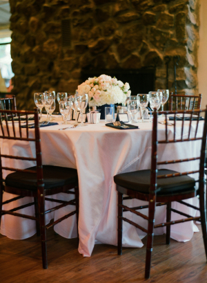 Elegant Brown White Wedding Reception
