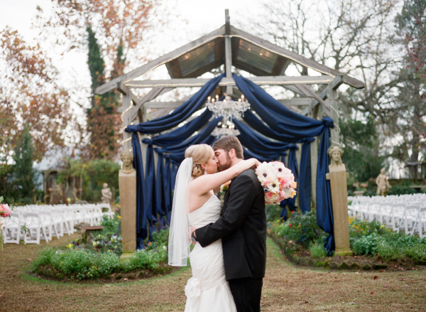 Elegant Draped Wedding Ceremony Arch