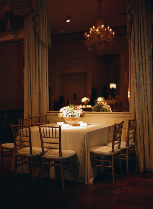 Elegant Gold and Brown Wedding Reception