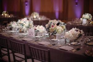Elegant Gray Purple Ballroom Wedding